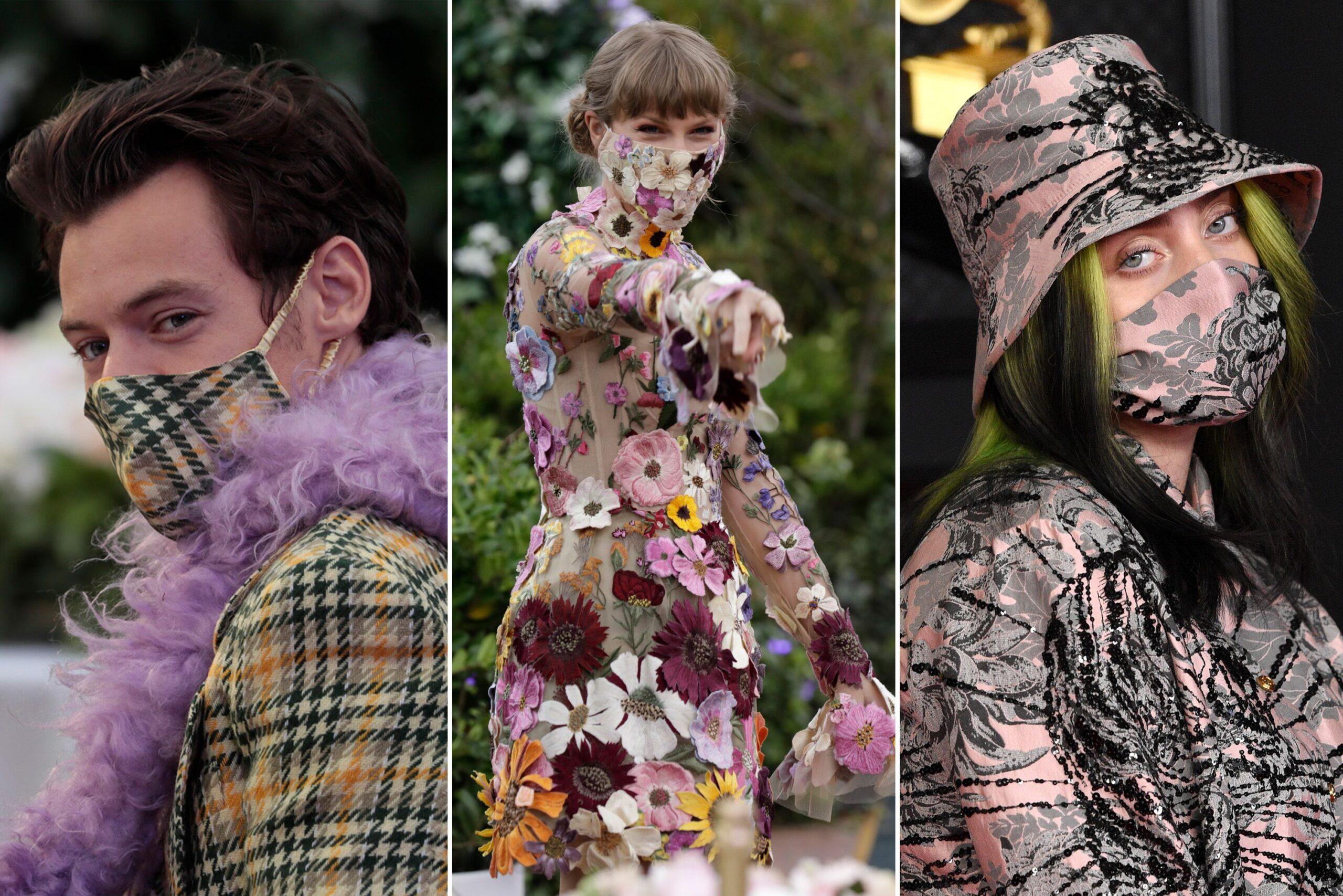 grammys-2021-matching-face-masks