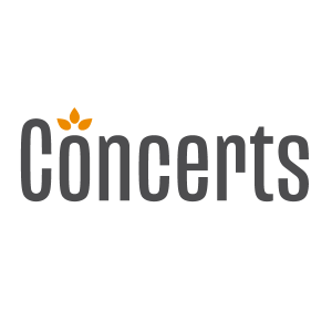 Concerts logo in square space