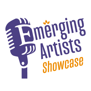 Emerging Artists Showcase logo in square space