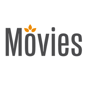 Movies logo in square space