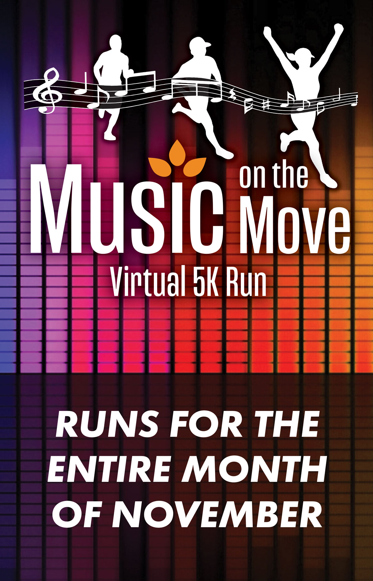 Music on the Move Virtual 5K Run event card image